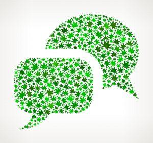 Cannabis Chat Bubbles