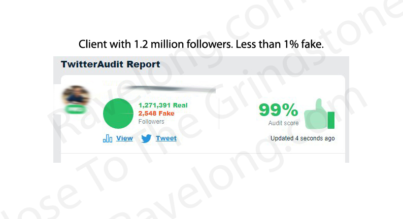 Ravelong Client Twitter Real Followers 2018 - 99% real