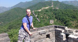 Arnold Plotnick at Great Wall of China